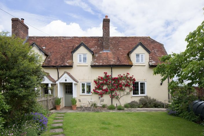 Old Down Cottage is in a beautiful rural location with a fully enclosed front garden.