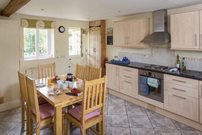 The stable-door allows the fresh country air in to add to that holiday atmosphere.