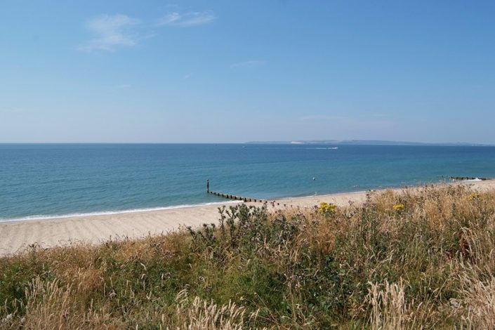 The wonderful sandy beaches between Christchurch and Poole are an easy day trip.